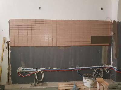 Burkolási munkák, Szeged kárász.u. Starbucks
